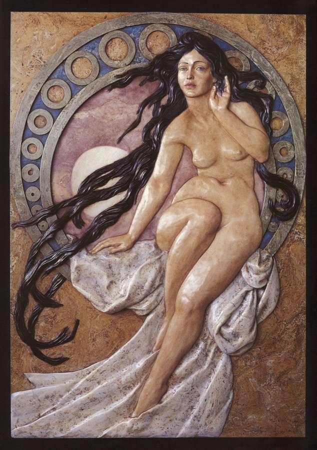 The Music Of Alphonse Mucha 99x69cm Decorar Con Arte
