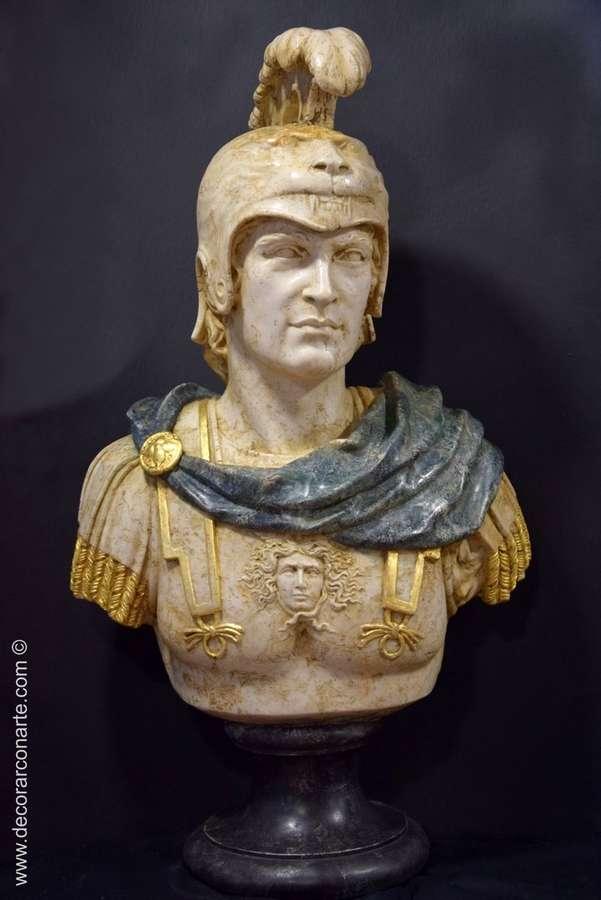 Busto de Alejandro Magno. 92x52x30cm Venta de figuras esculturas