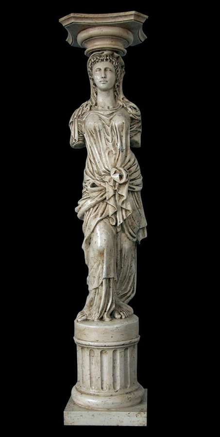 column sculpture of caryatid 136x30x30cm sale of decoration