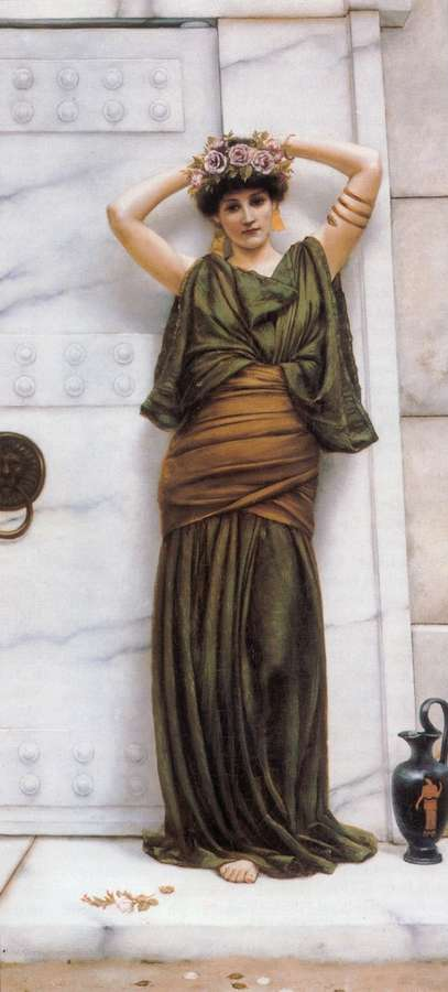 Ianthe eine leinwand von godward 1861 1922 70x32cm - Leinwand dekorieren ...