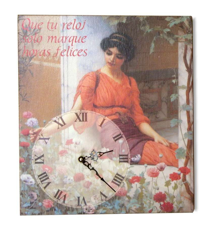 Reloj en lienzo montado sobre bastidor de william godward - Lienzo sobre bastidor ...