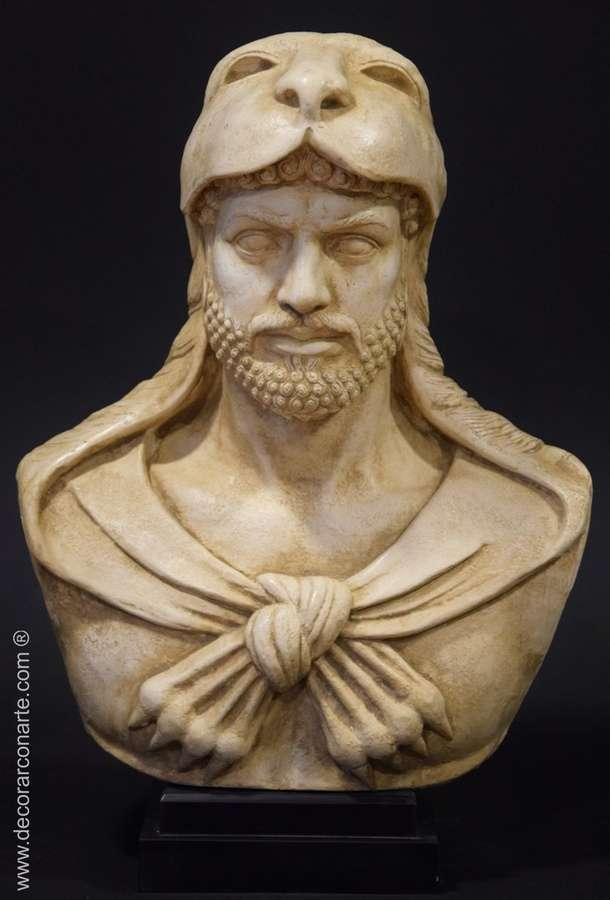 buste de hercules 44x29cm vente de sculptures grecques. Black Bedroom Furniture Sets. Home Design Ideas