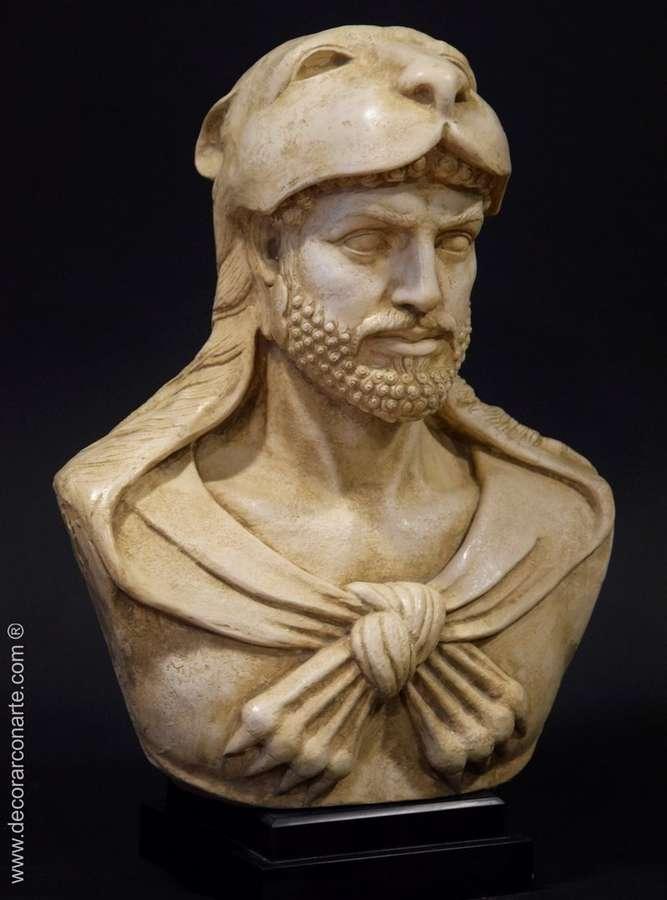Bust Of Hercules With Lion Head 44x29cm Sale Greek