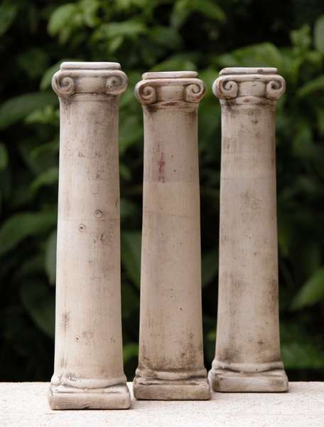 3 colonne romane di ceramica gioco alt 20 cm. Black Bedroom Furniture Sets. Home Design Ideas