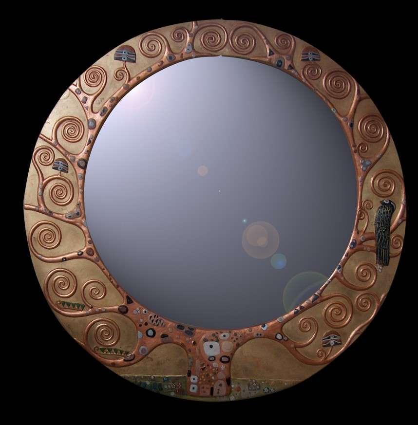 Espejo Arbol De La Vida Klimt 100x100 Cm Decorar Con Arte