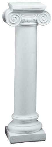 Columna redonda lisa jonica escayola 20x90x26 decorar - Pedestales para macetas ...