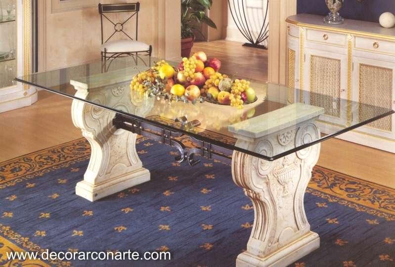 Mesa pompeyana con chambrana 230x110x75cm venta de muebles - Decoracion marinera barata ...