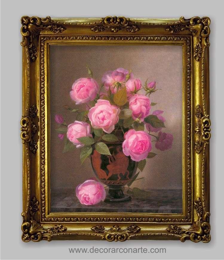 Cuadro rosas de william hamme 63x52cm decorar con arte Marcos de cuadros blancos