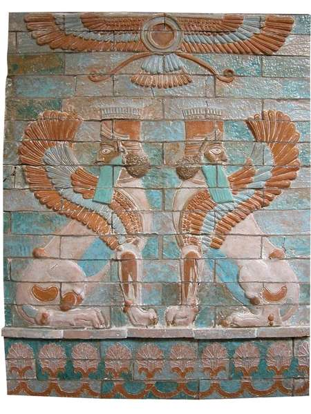Mural de cer mica ahura mazda 124x100x5cm venta de esculturas - Murales de ceramica ...