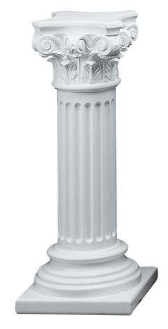 Vente des colonnes et des figures de pl tre sculptures et - Colonne de decoration en platre ...