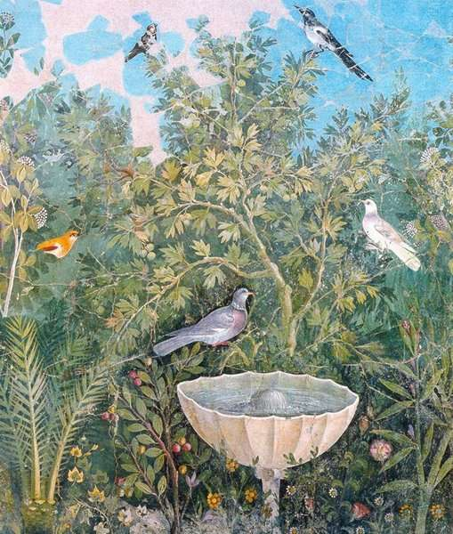 Peinture murale de pomp i source 70x59cm reproduction - Peinture metallisee murale ...