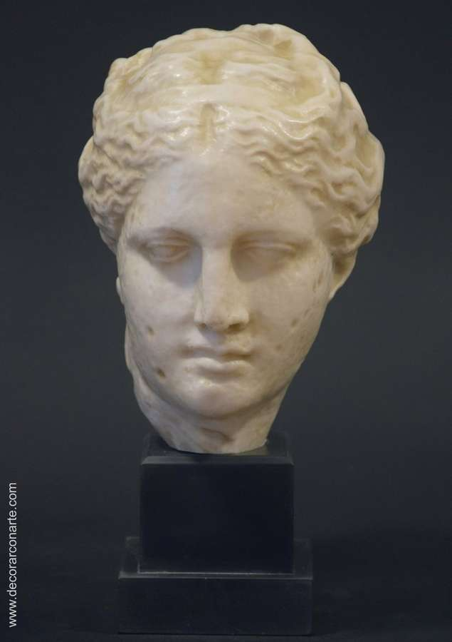 Head Of Hygeia Height 30cm Sale Of Greek Sculptures Of Art