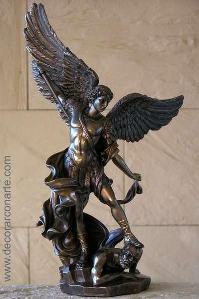 Figure San Miguel Arcangel 38 Cm Sale Of Art Figures