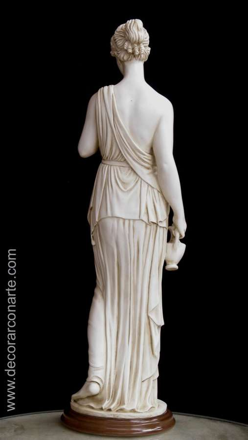 Statue of the Goddess Hebe. Height: 63,5 cm- Sale art ...
