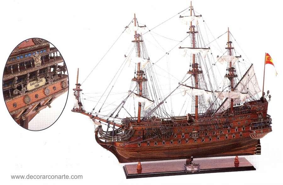 Galleon San Felipe 94x78x20cm Fully Assembled Model