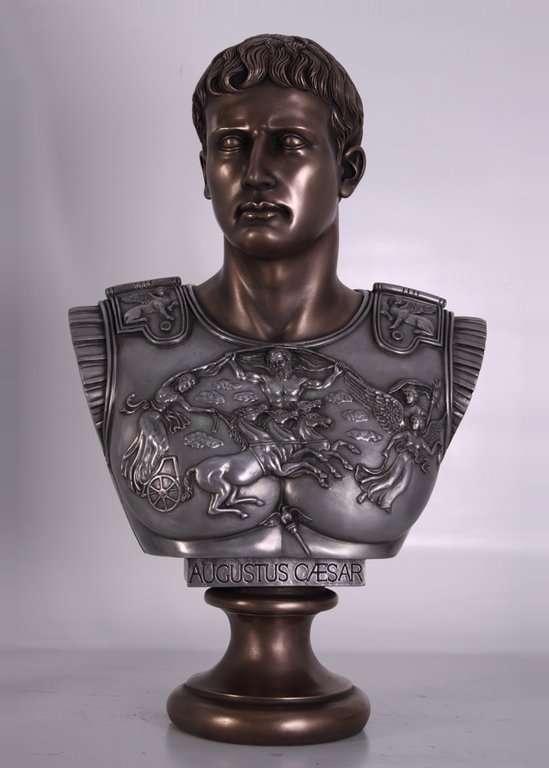 Busto de César Augusto. Bronce. 82x30x52cm - Venta de ...
