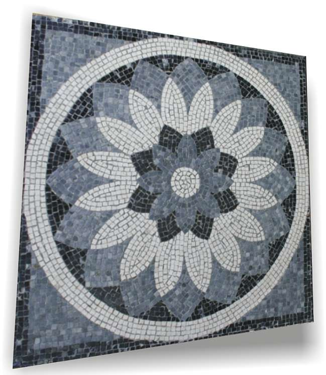 Mosaico geometrico floreale. 60 x 60 cm