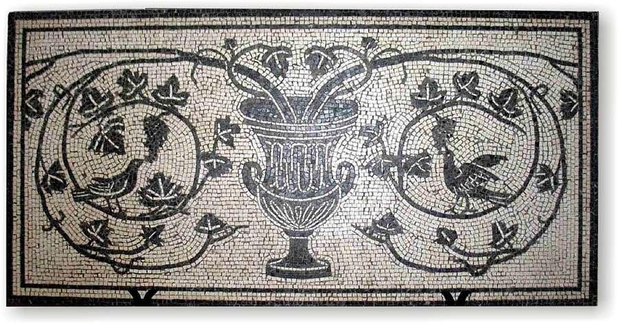 Mosaico di cretera bianco e nero 64 x 128 cm for Pavimento marmo bianco e nero