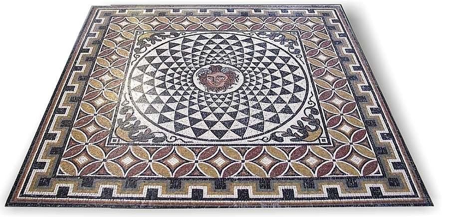 Mosaic Geometric Emblem Medusa 200 X Cm Manufacture Of Roman