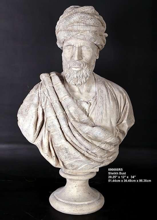 Busto arabe 51x30x86cm venta de esculturas figuras Esculturas decoracion