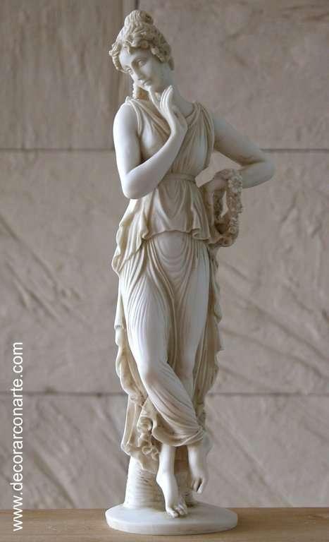 Ballerina Neoclassical Sculpture Height 34 Cm Art