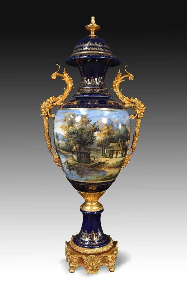 Vaso in porcellana sevres stile 50x36x114 cm vendita for Vaso di porcellana