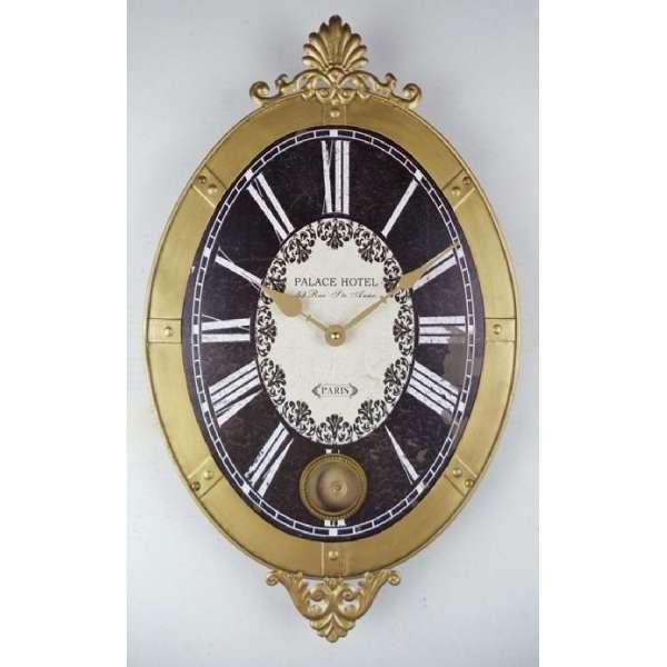 horloge murale en m tal 51x31cm vente de montres anciennes. Black Bedroom Furniture Sets. Home Design Ideas