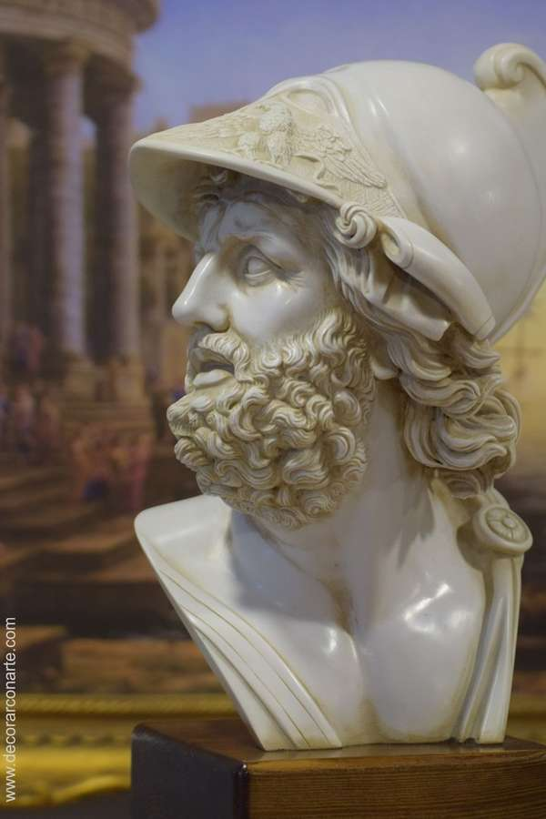 Bust Of God Ares Mars Neoclassicism 41cm Figures