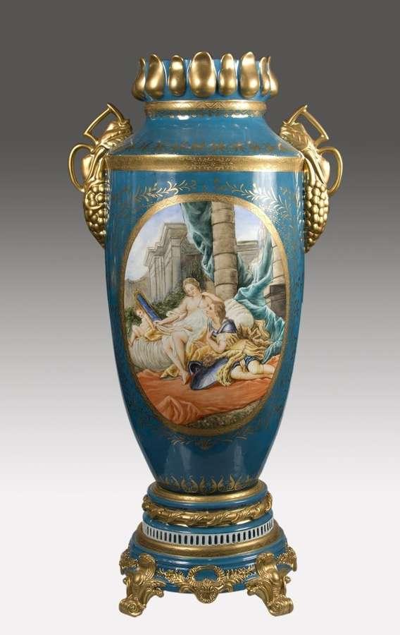 Vaso Di Porcellana Of Vaso Di Porcellana Blu Turchese 45x34x84cm Vendita