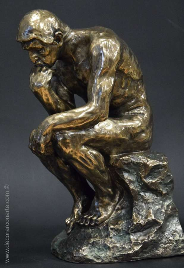 Figure of Thinker by Rodin. 48x30x20cm - Sale of art figures