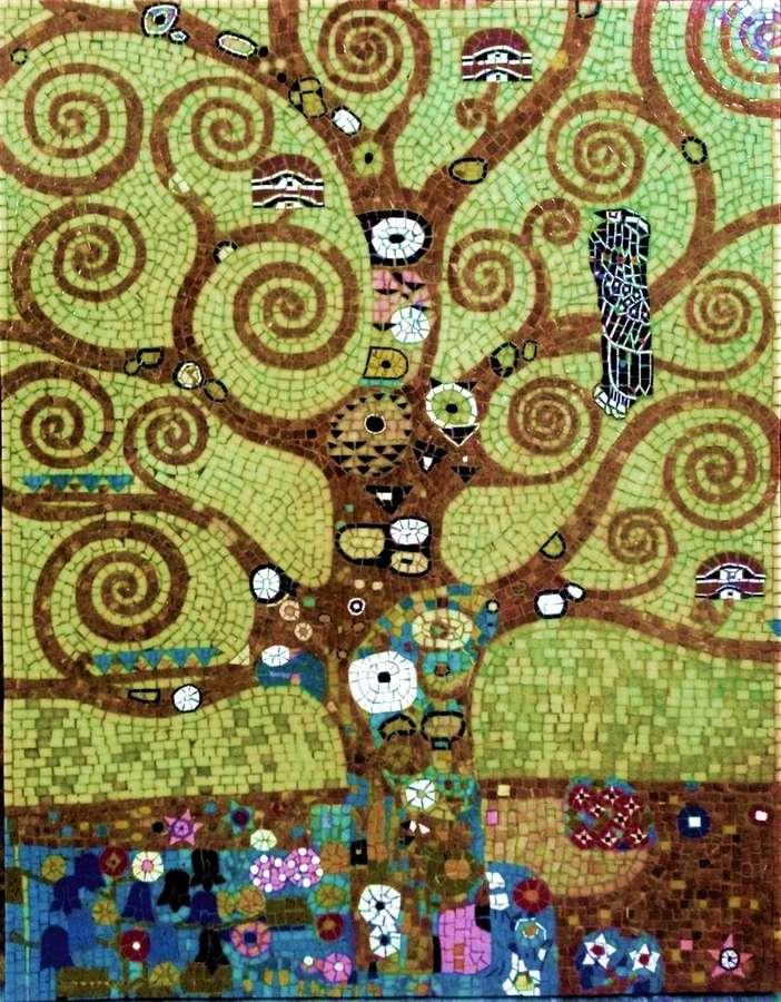 Klimt L Arbre De Vie Tableau l'arbre de vie de gustav klimt. 90x70cm