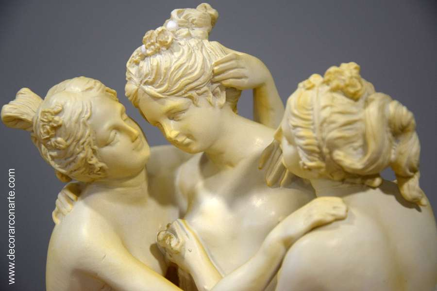 Figure Of The Three Graces 41cm Sale Of Decoration