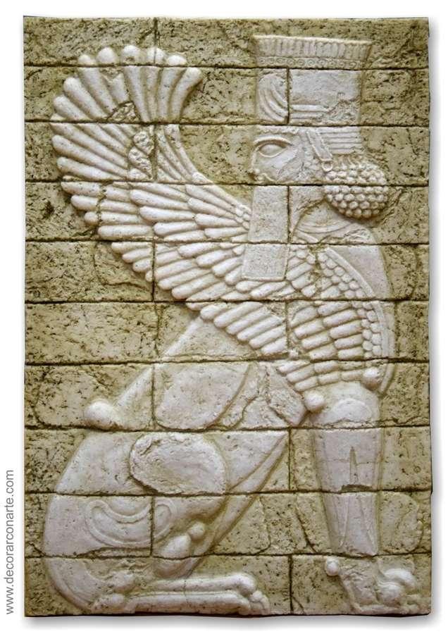 Bas-relief. Mesopotamian Sphinx, right. 49,5x33cm