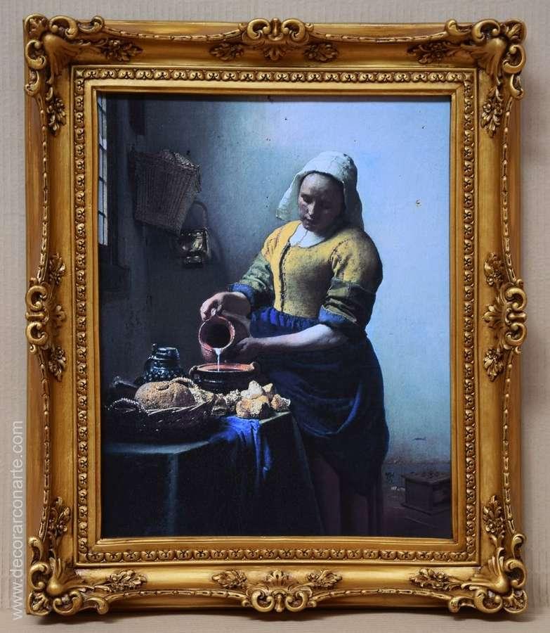 Cuadro de vermeer la lechera 63x52cm galeria de arte - La lechera de vermeer ...