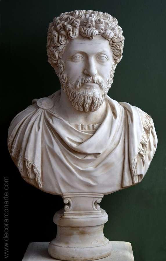 Bust Of Marco Aurelio Ephesus 86 Cm Sculpture