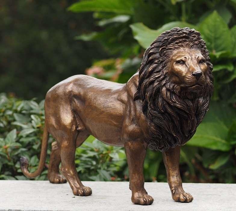 Metallobjekte Figur Löwe Bronze Antiquitäten & Kunst