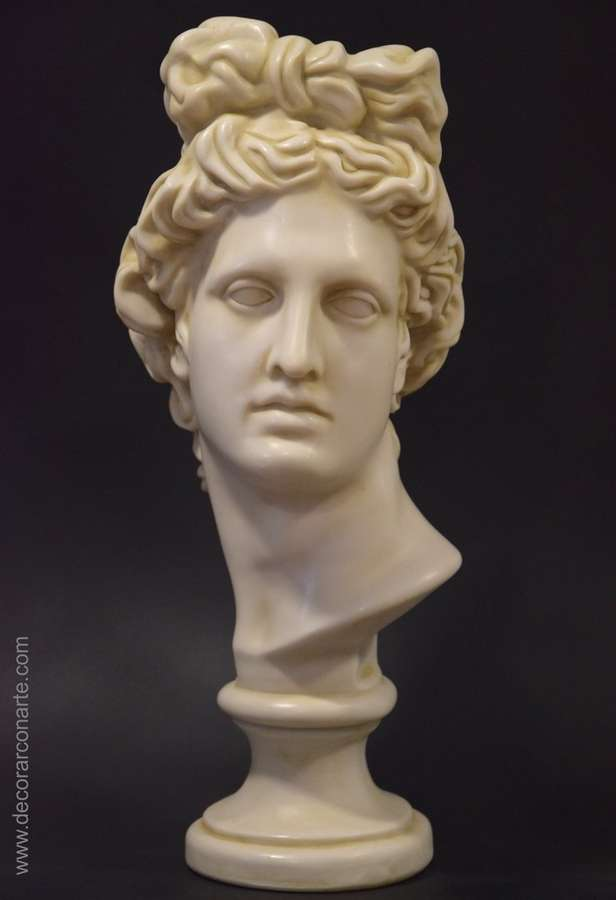 Bust of apollo of belvedere marble 55cm decorative for Imagenes de marmol