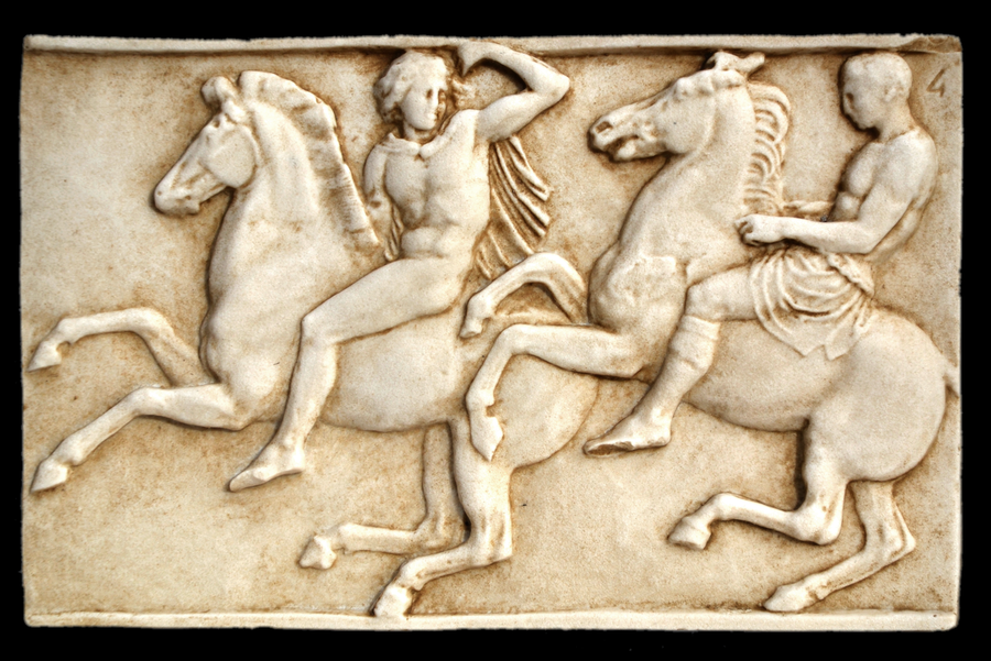 Bas Relief Of The Parthenon 42x27cm Sculptures For Decoration