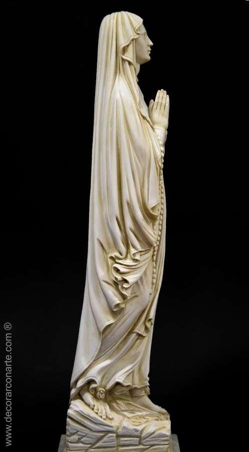 H/öhe 30cm Madonna Holzoptik Madonna Lourdes