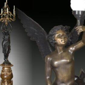 Bronces. Lámparas y candelabros
