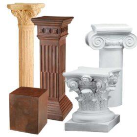 Columnas y pedestales de escayola