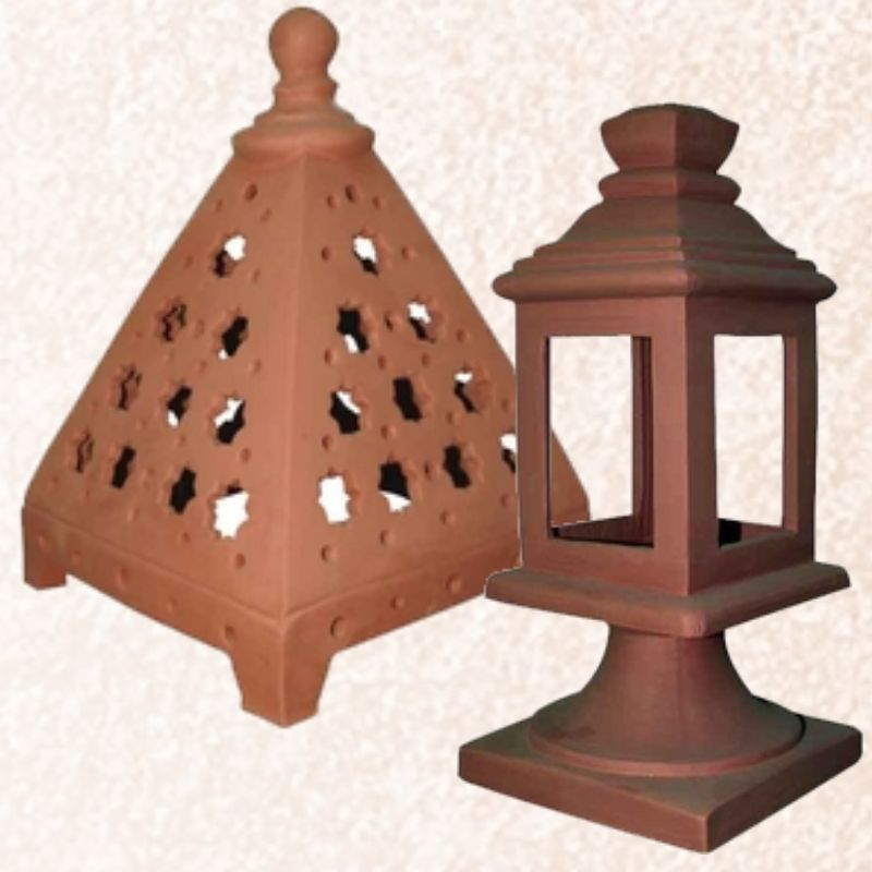 Ceramic wall lamps and lanterns