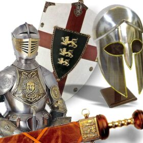 Antique weapons. Shields