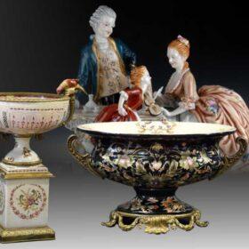 Figuras de Porcelana, Jarrones y centros de mesa