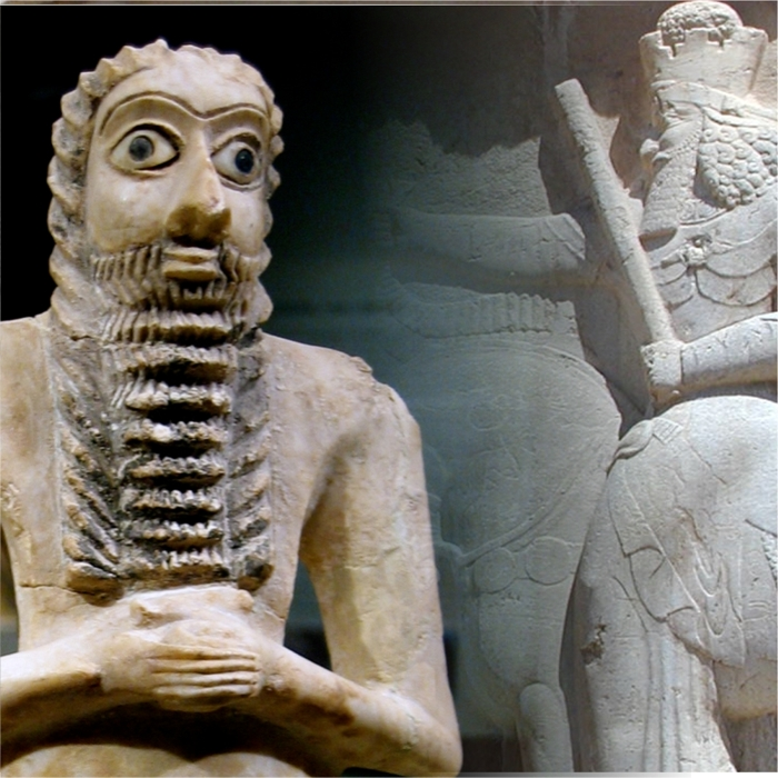 Reliefs and figures of Mesopotamia