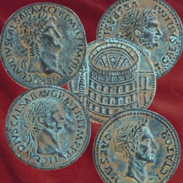 Pièces de monnaies romaines