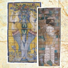 Murales y azulejos. Rosetones y relieves cerámicos.