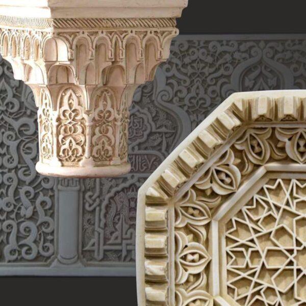 Relief, épigraphe et élément architectonique