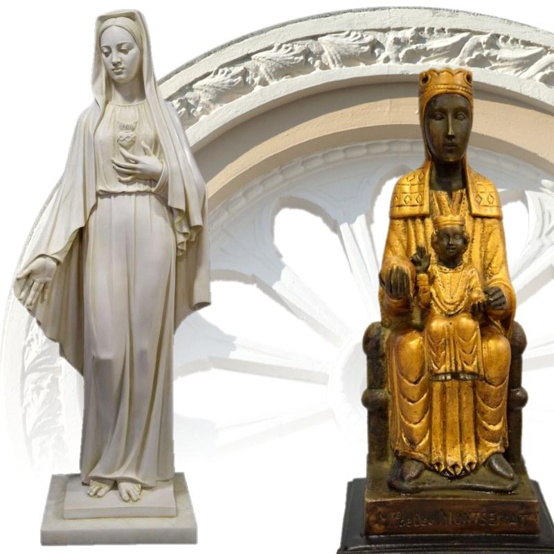 Reconstituted marble figures