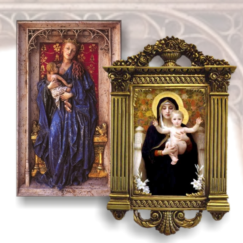 Paintings and polychrome reliefs